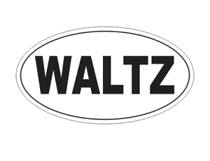 WALTZ Oval Bumper Sticker or Helmet Sticker D1854 Euro Oval Dance