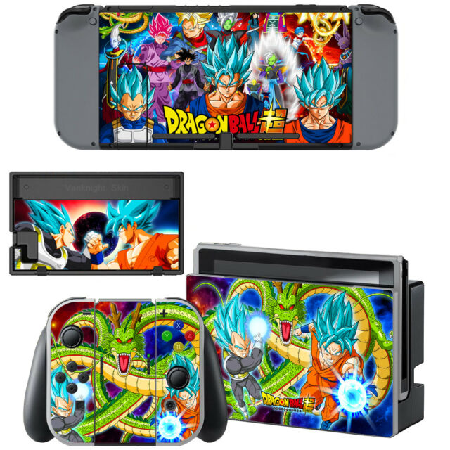 Nintendo Switch Console Joy-Con Skin Dragon Ball Z Son Goku Vegeta Vinyl Decals