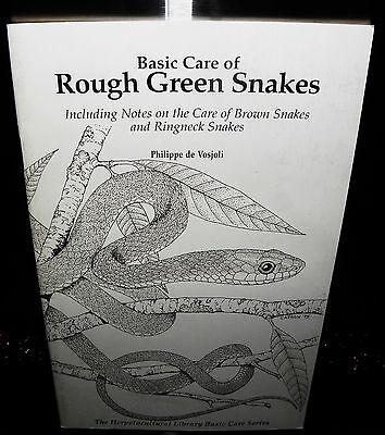 Paperback, 2000 Basic Care of Rough Green Snakes by Philippe De Vosjoli