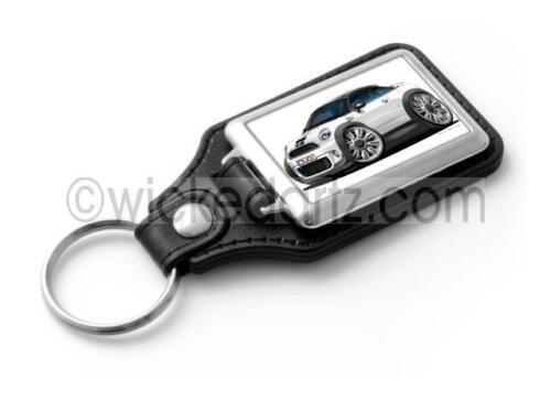 WickedKarz Cartoon Car Mini Coupe in White//Black Stylish Key Ring
