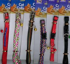 CAT COLLARS -w/bells-wholesale lot of three dozen (36)
