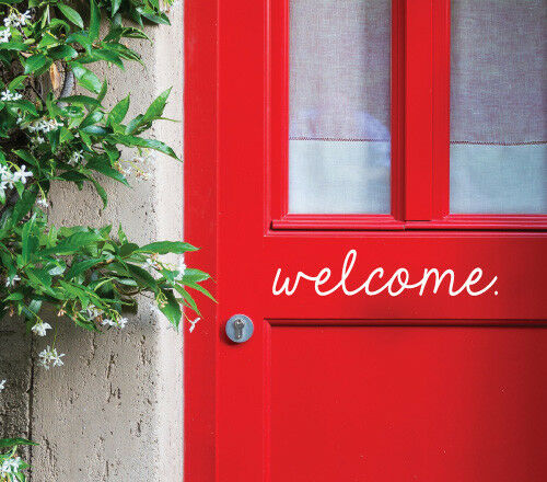 Welcome Wall Sticker Home Quotes Inspirational Love MS048VC