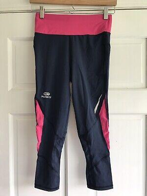 Decathlon Kalenji Pink Blue 3 4 Running Tights Womens Size 10 Ebay