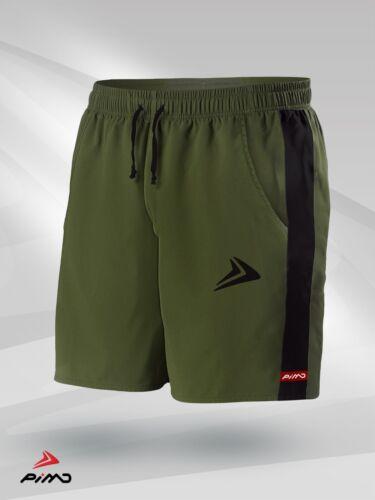 PIMD Prime Gym Shorts Muscle Fitness Squat Training Running Khaki Green// Black