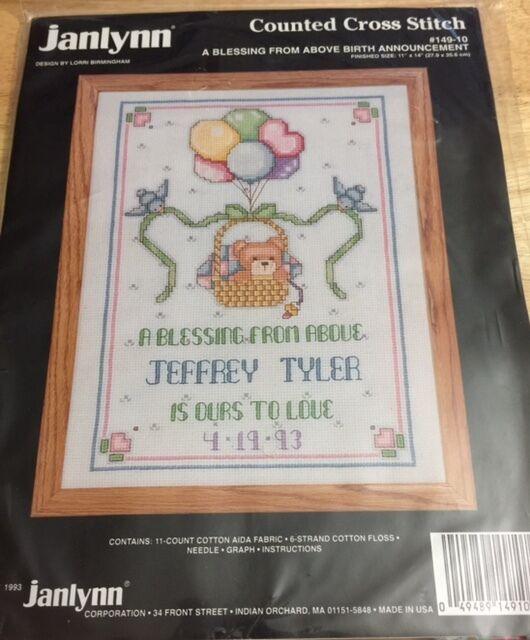 Janlynn a Blessing Birth Record Cross-stitch Kit