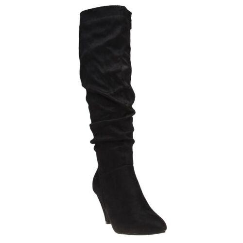 New Zip Black high Knee Freida Microfibre Boots Solesister Womens rqx8wAOr