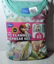 Newest New Girls Disney FROZEN Fever 2 pc Flannel Pajamas Sleepwear Set 4/5