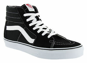 87c425180b8 Vans Classic SK8 Hi Tops Black White Mens Skateboard Tennis ...