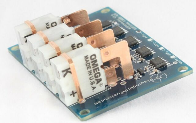 MAX31855 Quad-Ch Thermocouple Board; MAX6675 upgrade, Arduino/Pi Compatible