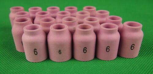 #6 STUBBY Gas Lens Cups 54N16S 20Pcs #6 STUBBY Gas Lens Cups 54N16S 20Pcs