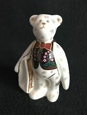 Royal Crown Derby Mini shop Bear with RCD Bag - Paperweight / Figurine