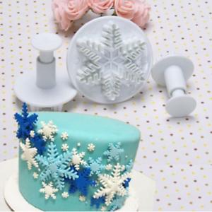 3pcs-Christmas-Snowflake-Plunger-Cutter-Mold-Fondant-Cake-Sugarcraft-Decor-Tools