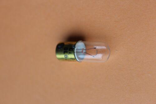 Box of 50 MBC MCC BA9S 6v 6.3v 250mA 1.5w clear tube tubular bulbs D10mm L27mm
