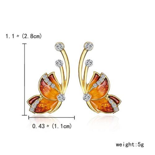 Fashion Women Girl 925 Silver Earrings Cute Ear Stud Wedding Party Jewelry Gifts