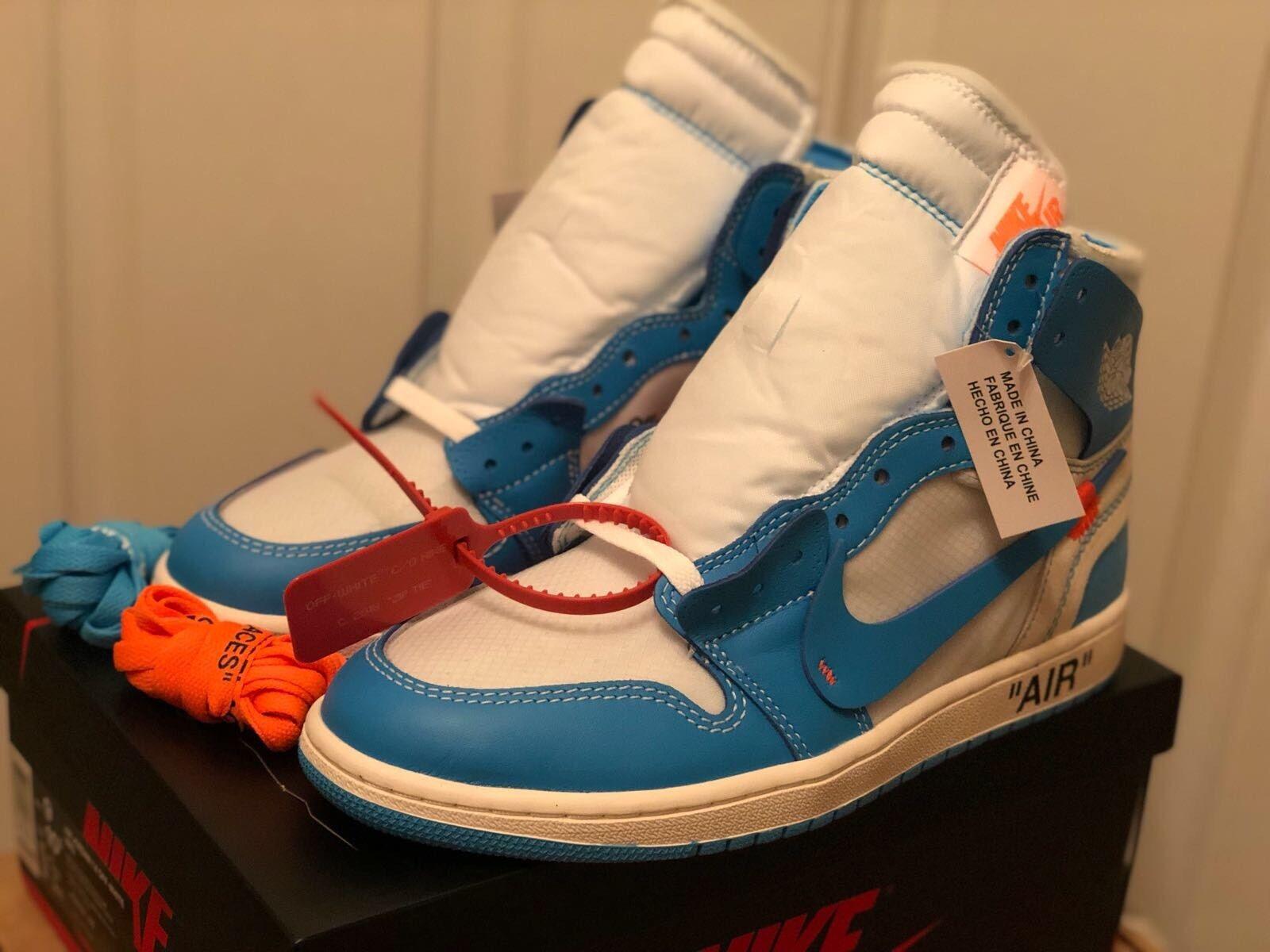 Nike Air Jordan 1 x blanc-cassé NRG UNC UK 11 EUR 46 us 12 Neuf Dans La Boîte d'origine!