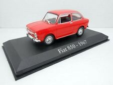 1/43 COCHE FIAT 850 ROJO 1967 SEAT  IXO RBA  1:43 METAL MODEL CAR MINIATURA