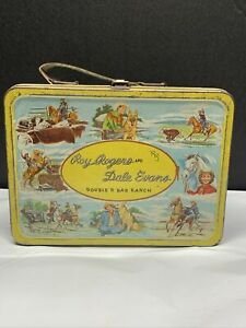 Roy Rogers and Dale Evans Double R Bar Ranch 1950s Vintage Metal Lunchbox