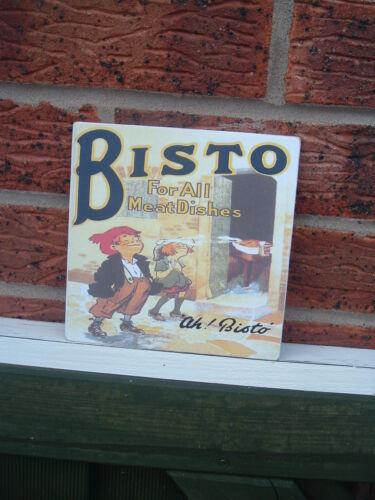 Bisto kitchen wall sign hanging plaque vintage retro design 6x6