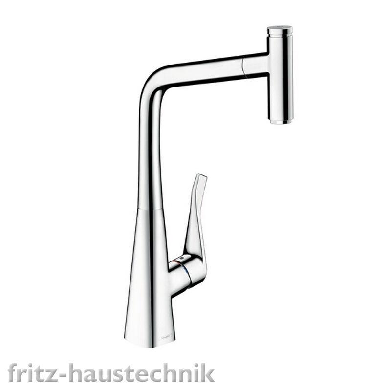 Hansgrohe Metris Select 320 Spültischmischer mit Ausziehauslauf Spülen Armatur