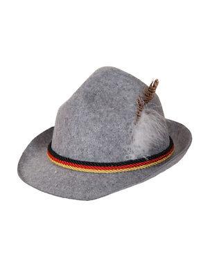 Oktoberfest German Trenker Hat Austrian Bavarian Hat With Feather Fancy Dress