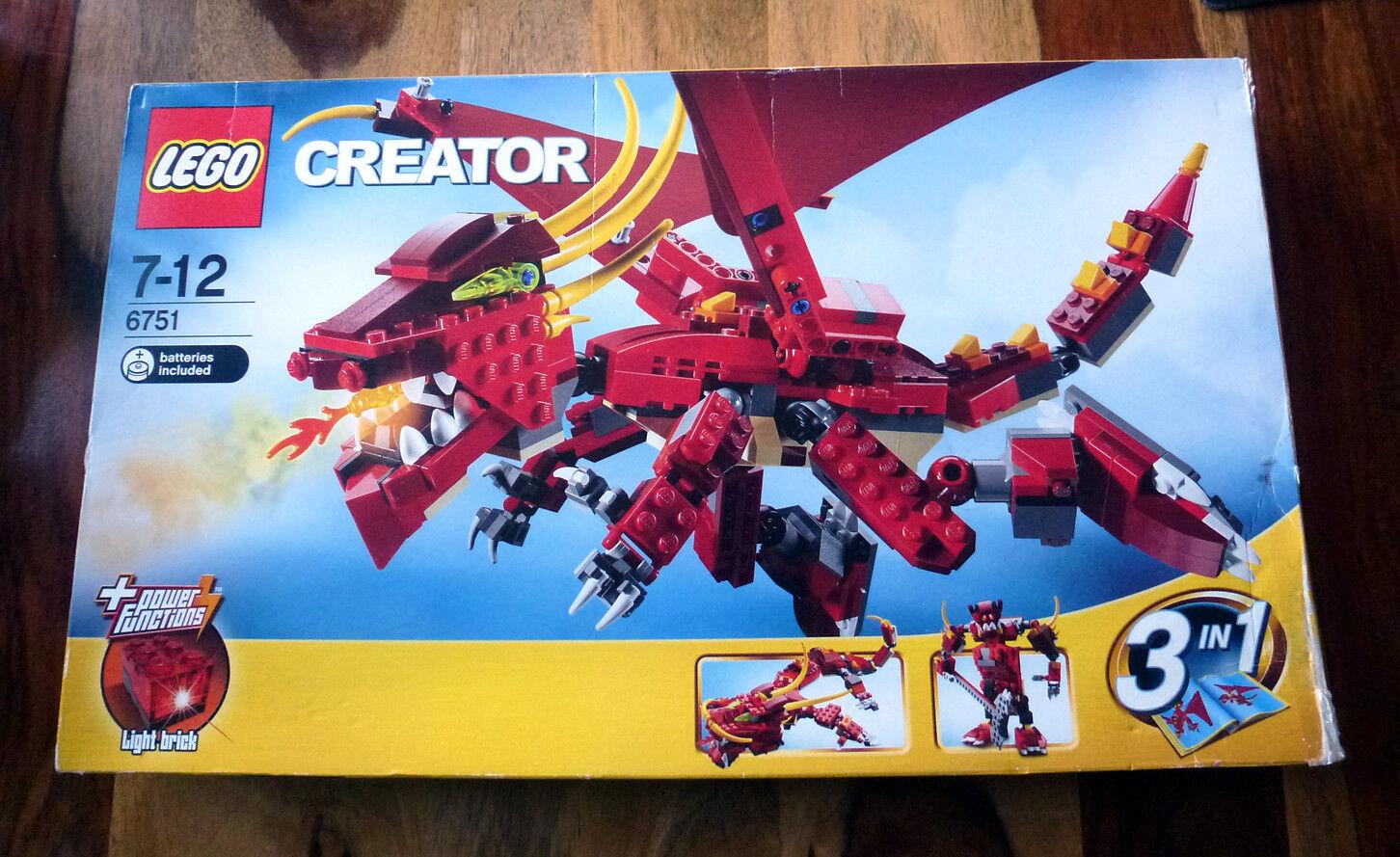 LEGO Creator Fiery Legend (6751)  used