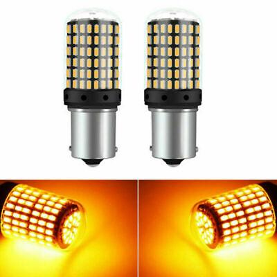 2Pcs 1156 BA15S 3014 144 SMD LED Canbus Error Free Brake Turn Signal light White