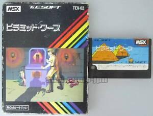 MSX-ROM-034-PYRAMID-WARP-034-T-amp-E-SOFT-BOXED-JAPAN