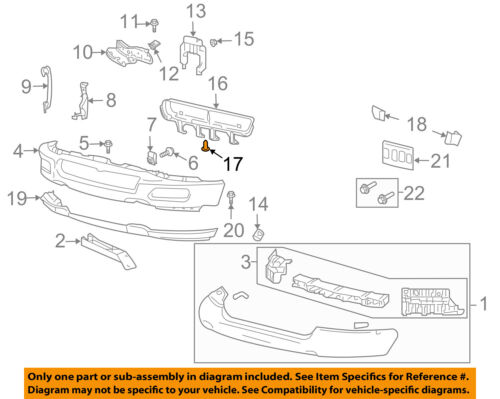 FORD OEM Front Bumper-Valance Pin N807389S