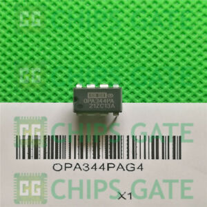 15PCS-OPA344PAG4-IC-OPAMP-GP-1MHZ-RRO-8DIP-Ti