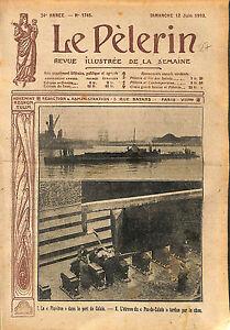 Port-de-Calais-Sous-Marin-Pluviose-Etrave-Pas-de-Calais-WWI-1916-ILLUSTRATION