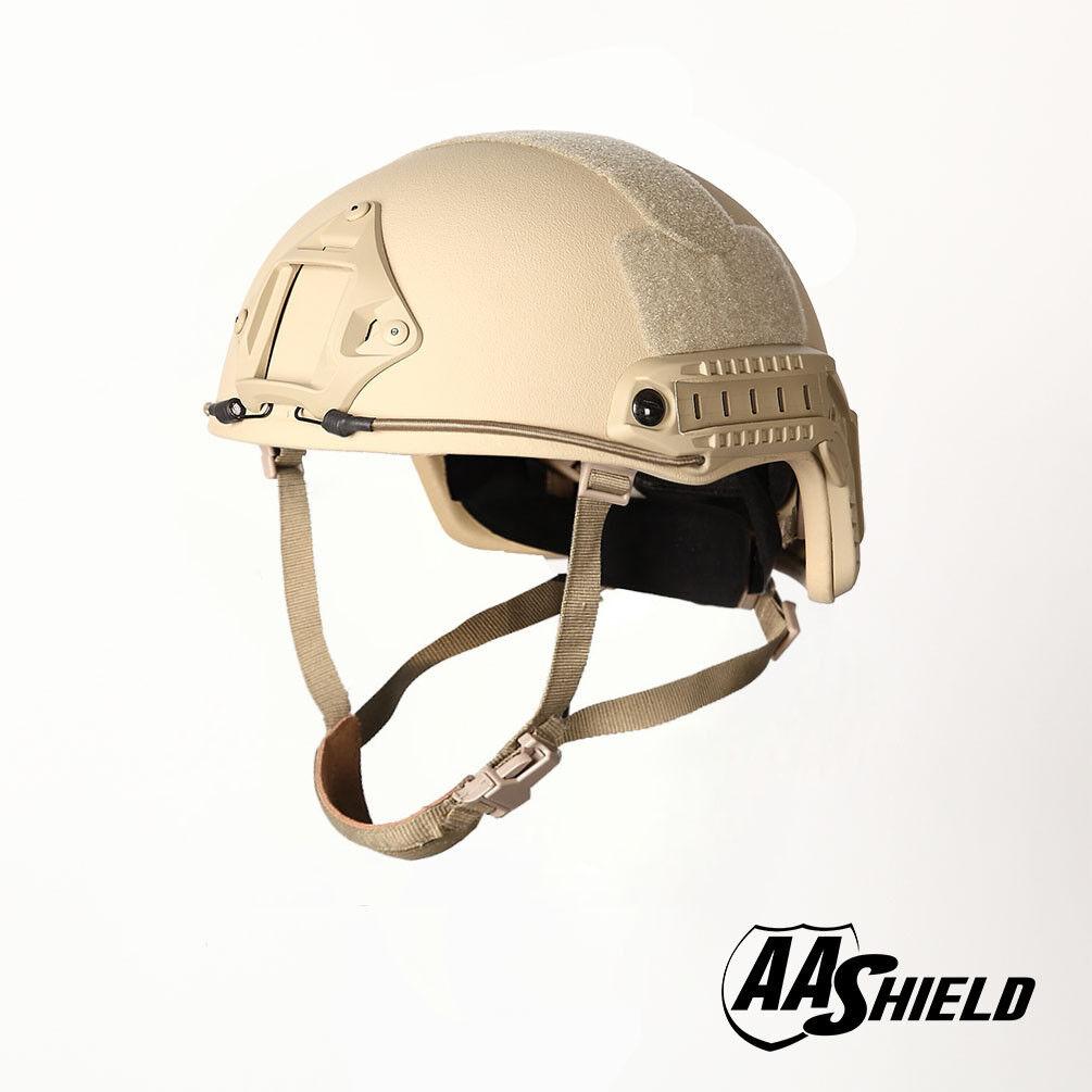 AA Shield Bulletproof ACH High Cut Tactical Helmet  Aramid Safety IIIA Tan L XL  store sale outlet