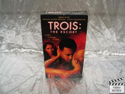 The Escort Review >> Trois The Escort Vhs Brian White Reagan Gomez Preston Isaiah Washington Ebay