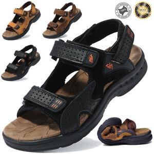 Men-039-s-Genuine-Leather-Fisherman-Beach-Sports-Sandals-Waterproof-Shoes-UK-6-7-8-9