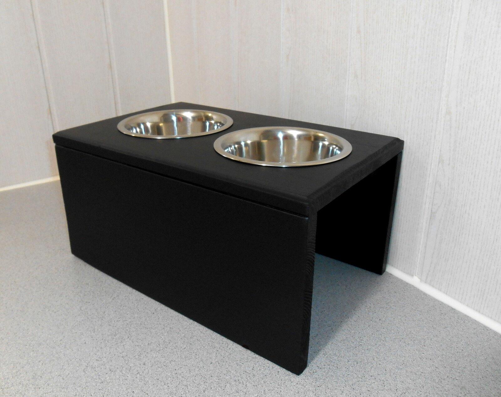 Hundenapf   Hundebar   Futternapf    Buche in schwarz, Jede Wunschfarbe (950)    Schön  7629ce