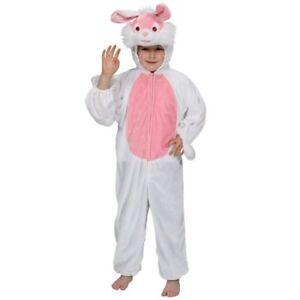 6ff2243f8189 Caricamento dell'immagine in corso Costume-Carnevale-Bambina-Da-Coniglio- Abito-Animale-Vestito-