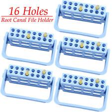 5 Pcs Dental Endo Root Canal File Holder Plastic Endodontic Measuring Instrument