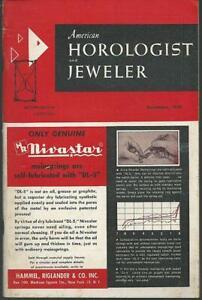 American Horologist and Jeweler Magazine December 1959 Pocket Watches/Black Gems
