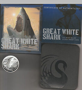 2015-1oz-999-Silver-Proof-Great-White-Shark-High-Relief-Coin