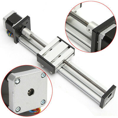 300//500MM  CNC Linear Actuator Stage Lead Screw Slide Rail Guide42 Stepper Motor