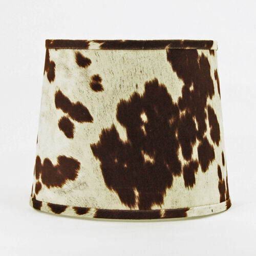 """Faux Brown Cowhide Shade,Hardback, 16"""" Washer Fitter"""