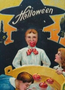Halloween Postcard Series No 5 Nash Children Playing Games