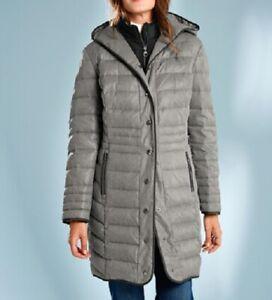 finest selection becac 14f2b Details zu Daunenmantel Mantel Damen 2 in 1 Optik Kapuze Wintermantel Gr.  46 48 50 52 54