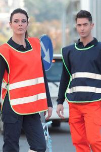 Weites-T-Shirt-Weste-Mann-Frau-von-Arbeit-Hohe-Sichtbarkeit-Refractor-Kleidung