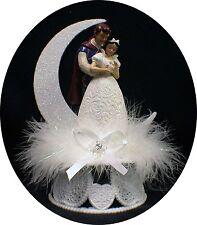 Disney Princess SNOW WHITE Prince Charming Wedding Cake Topper Fariytale WHITE