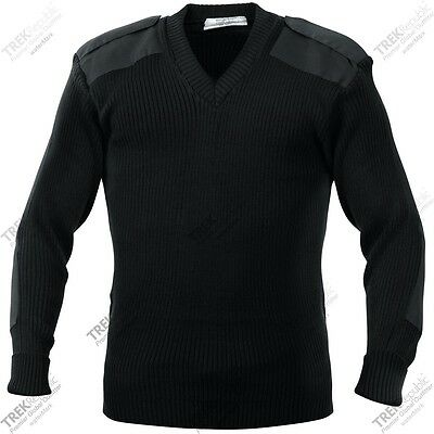 Military Style G.I. Commando V Neck Sweater Tactical Army Acrylic Sweater