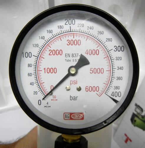 "DUAL SCALE 0-400 BAR /& 0-6000 PSI High Quality Pressure Gauge 3//8/"" BSP"