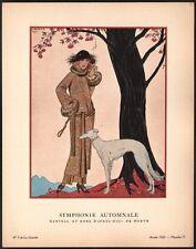 Georges Barbier. Gazette du bon ton. 1922 - planche 71. Barzoï