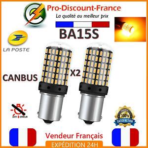 2-x-ampoule-CANBUS-144-LED-BA15S-1156-P21W-ORANGE-Voiture-Feux-Jour-Clignotant