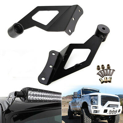 "50/""inch Straight LED Light Bar+Roof Brackets For 99-14 Ford F250 F350 Super Duty"