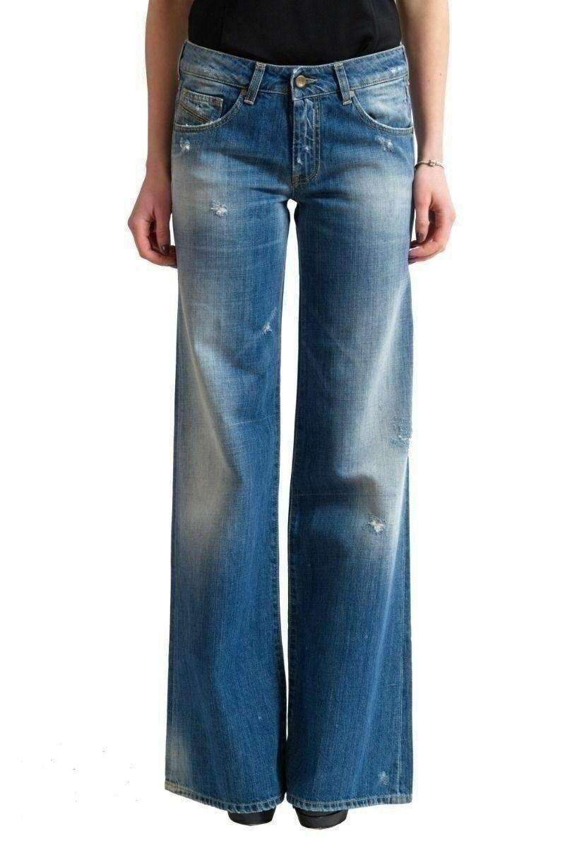 Diesel Distressed Stone Washed Women's Boot Cut Denim Jeans US 7 IT 29